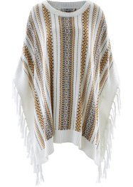 Poncho, bpc bonprix collection, wolwit gedessineerd