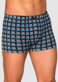 Boxershort (set van 3), bpc bonprix collection, geruit/grijs gemêleerd