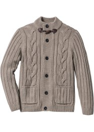 Gebreid vest, bpc bonprix collection, taupe