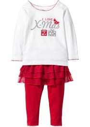 Baby shirt en legging (2-dlg. set) biologisch katoen, bpc bonprix collection