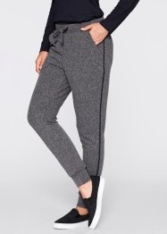 Sweatpants, bpc bonprix collection, grijs gemêleerd/donkerblauw
