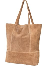 Leren shopper, bpc bonprix collection, lichtbruin