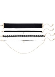 Choker (4-dlg. set), RAINBOW