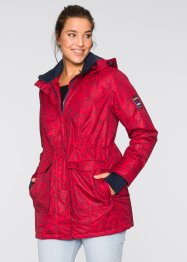 Outdoorjack, bpc bonprix collection, donkerrood/donkerblauw