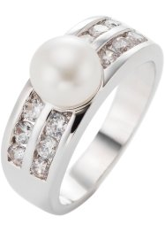 Ring «Parel», bpc bonprix collection, zilverkleur/champagnekleur