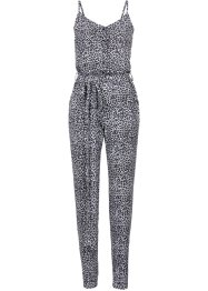 Jumpsuit, RAINBOW, zwart/wit luipaardprint