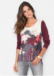 Shirtblouse, bpc selection, ahornrood met print