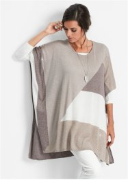 Poncho, bpc selection, natuursteen/middenbruin/wolwit