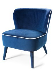 Fauteuil «Jacob», bpc living, donkerblauw