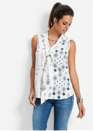 Blouse, bpc selection, parelblauw gedessineerd