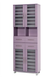 Hoge kast «Ted» (breed), bpc living, mauve