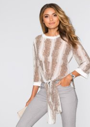 Blouse, BODYFLIRT, beige gedessineerd