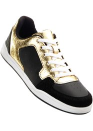 Sneakers, Marcell von Berlin for bonprix, zwart/goudkleur