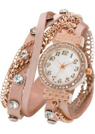 Horloge «Mairi», bpc bonprix collection, roze/roodgoudkleur