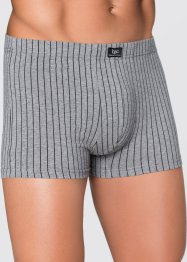 Boxershort (set van 3), bpc bonprix collection, grijs gemêleerd gestreept