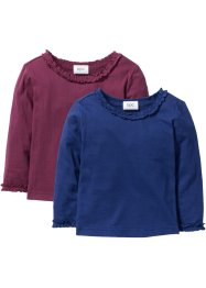 Longsleeve (set van 2), bpc bonprix collection, bessen+middernachtblauw