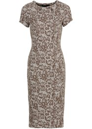 Jurk, bpc selection, wit/taupe met print