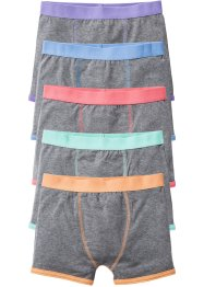 Boxershort (set van 5), bpc bonprix collection, grijs gemêleerd/pastel