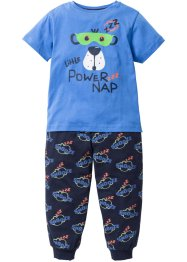 Pyjama (2-dlg. set), bpc bonprix collection, gletsjerblauw/donkerblauw
