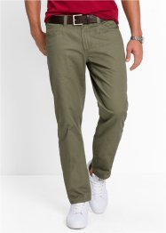 5-pocket-broek regular fit straight, bpc bonprix collection, olijfgroen