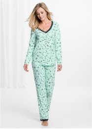 Pyjamabroek, bpc selection, pastelmint gedessineerd
