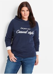 Sweatshirt, bpc bonprix collection, donkerblauw met print