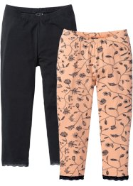 Caprilegging (set van 2), bpc selection, zwart/melba gedessineerd