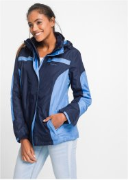3in1-outdoorjack, bpc bonprix collection, donkerblauw/middenblauw