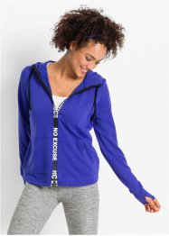Sweatvest, bpc bonprix collection, saffierblauw