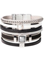 Armband, bpc bonprix collection, zwart/grijs