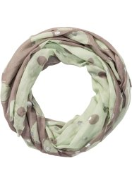 Tunnelsjaal, bpc bonprix collection, mint/taupe