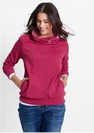 Sweatshirt, bpc bonprix collection, bessenrood