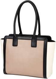 Handtas, bpc bonprix collection, zwart/wit/nude