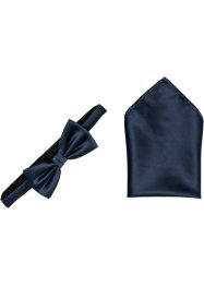 Strikje+pochet (2-dlg. set), bpc selection, donkerblauw