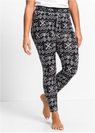 Functionele legging, bpc bonprix collection, zwart gedessineerd