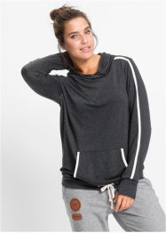 Sweatshirt, bpc bonprix collection, antraciet gemêleerd