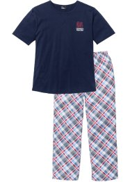 Pyjama (2-dlg.), bpc bonprix collection, donkerblauw geruit