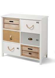 Commode «Marleen», bpc living, wit/naturel