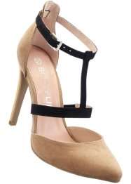 Pumps, BODYFLIRT, beige/zwart