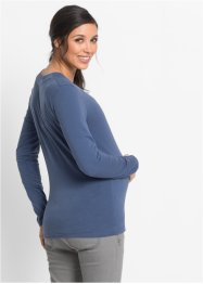 Zwangerschaps-/voedingsshirt+top (2-dlg. set), bpc bonprix collection, indigo/donkerblauw
