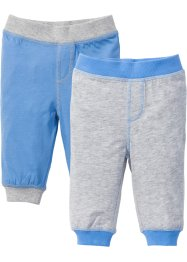 Babybroek (set van 2), bpc bonprix collection, lichtgrijs gemêleerd/middenblauw