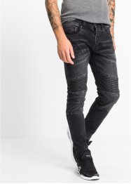 Stretchjeans slim fit straight, RAINBOW, black denim