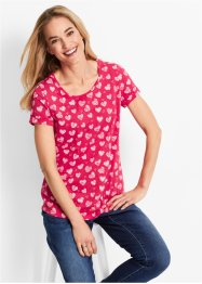 Shirt, bpc bonprix collection, hibiscuspink gedessineerd