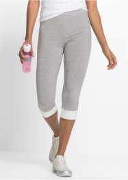 Caprilegging, bpc bonprix collection, lichtgrijs gemêleerd/wit