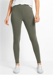 Legging (set van 2), bpc bonprix collection, olijfgroen+zwart