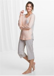 Pyjama (2-dlg.), bpc bonprix collection, ecru gemêleerd/beige