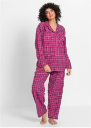 Pyjama, bpc bonprix collection, pink geruit