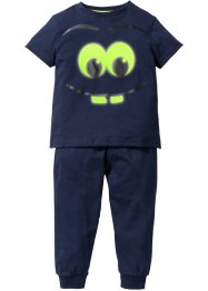 Pyjama «Glow in the Dark» (2-dlg. set), bpc bonprix collection, donkerblauw