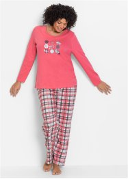 Pyjama, bpc bonprix collection, lichtpink met print