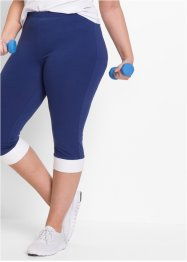 Caprilegging, bpc bonprix collection, middernachtblauw/wit